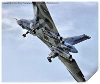 Vulcan XH558 takes off at Farnborough 2014, Print
