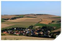 Rural French Village, Print
