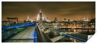 St Pauls and the Millennium Bridge, Print