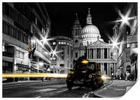 St pauls with Black Cab, Print