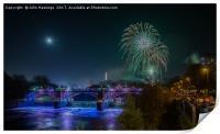 Glasgow Fireworks, Print