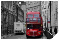 London Red Bus, Print