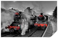 """""""Llangollen Railway(Santa Special), Print"""