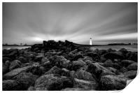 """Rays of Light (Perch Rock Lighthouse), Print"