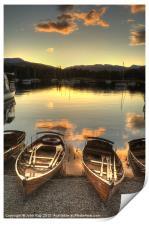 Boats on Windermere, Print