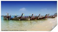Boats in Thailand, Print