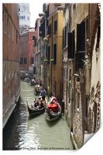 Traffic jam in Venice, Print