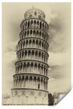 Leaning Tower of Pisa, Print