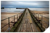 Wooden Pier at Blyth Northumberland, Print