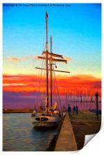The Flying Dutchman - Impressionist filter, Print