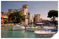 Sirmione Scaliger Castle, Print