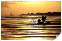 Fishermen at sunrise, Print