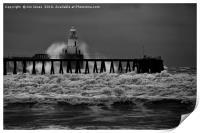 Storm in Black and White, Print