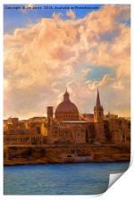 Artistic Valletta, Print