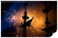 Fireworks and Tall Ships, Print