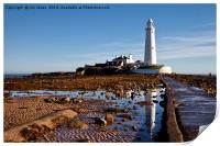 St Mary's Island reflections, Print