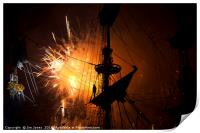 Fireworks and Tall Ships 2, Print