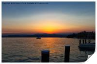 Sunset on Lake Garda, Print