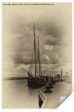 Antique Plate Tall Ship, Print