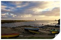Morning sunshine at Tynemouth, Print