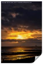 Sunrise with storm to follow, Print