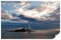 First Light at St Mary's Island 2, Print