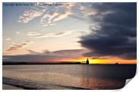 Sunrise over the piers, Print