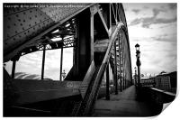 Newcastle in black and white, Print