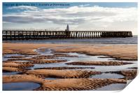 The Piers from Blyth beach, Print