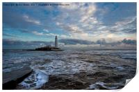 Winter dawn at St Mary's Island (2), Print