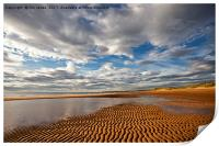 Ripples in the sand, Print