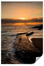 New day on Cullercoats Bay, Print