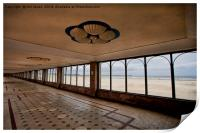 South Shields beach in perspective!, Print