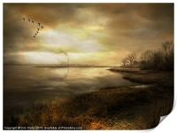 Dusk on the River, Print