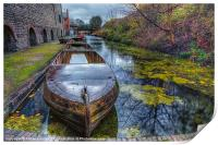 Canal Boat, Print