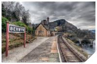 Berwyn Railway Station, Print