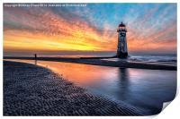 Lighthouse Sunset, Print