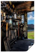 Steam Locomotive Footplate, Print