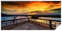 National Park Sunset, Print