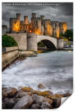 Conwy Castle At Night, Print