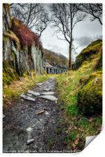Quarry Barracks Snowdonia, Print