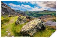 Quarry Steps Snowdonia, Print