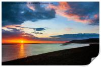 Sunset Seascape Wales, Print