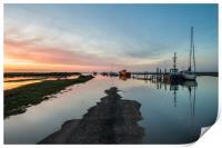 Sunset over Thornham harbour, Print