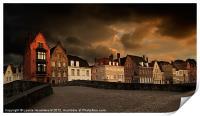 Spinolarei at dusk, Bruges, Print