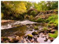 Glenlivet packhorse bridge, Cairngorms National Pa, Print