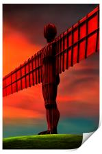 Angel of the north , Print