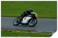 Racing bikes at Snetterton racetrack , Print