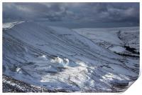 The Great Ridge In Winter, Print