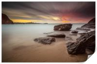 Lust Glaze Cove at Sunset - Long Exposure, Print